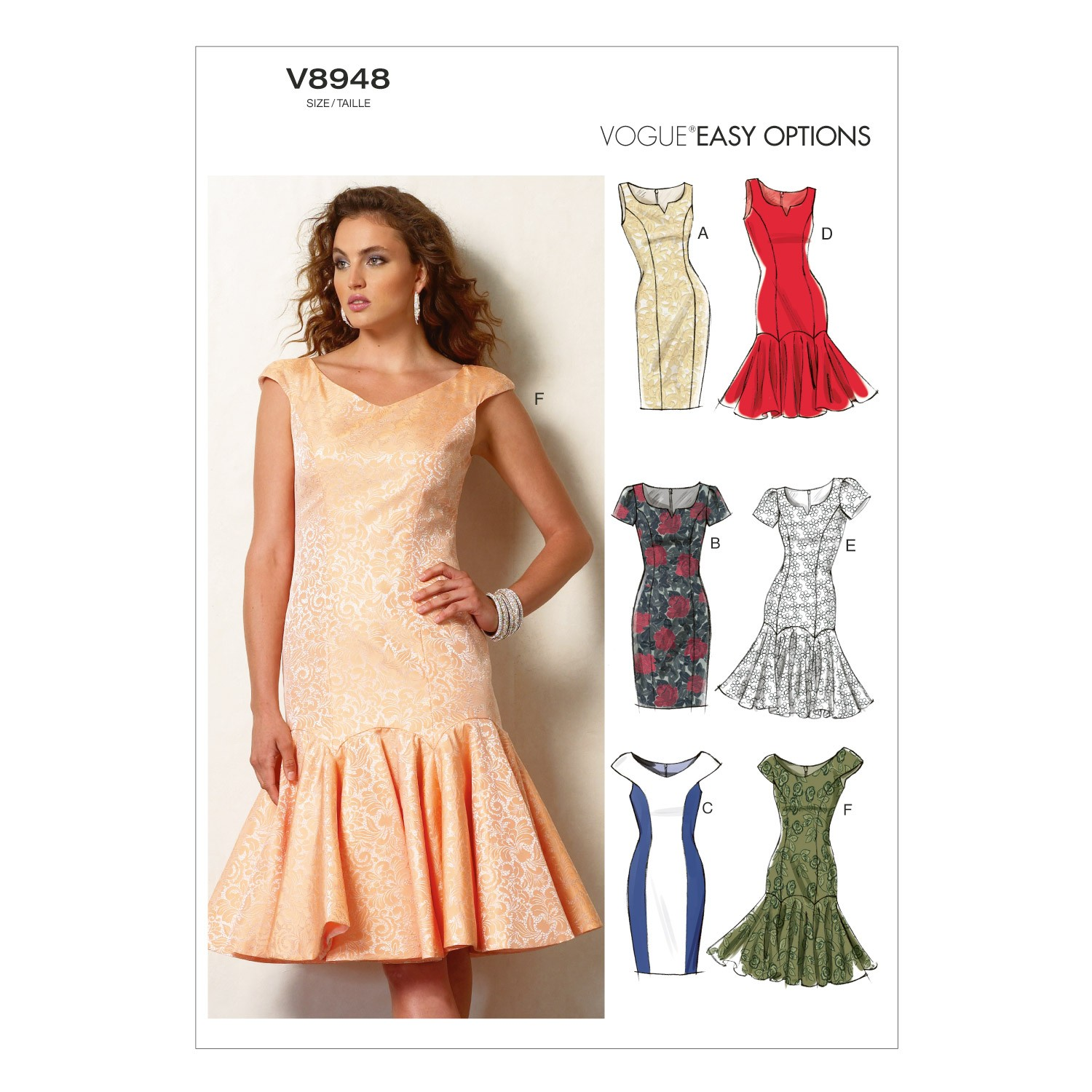 Vogue Sewing Pattern V8948 Women's Petite Dress