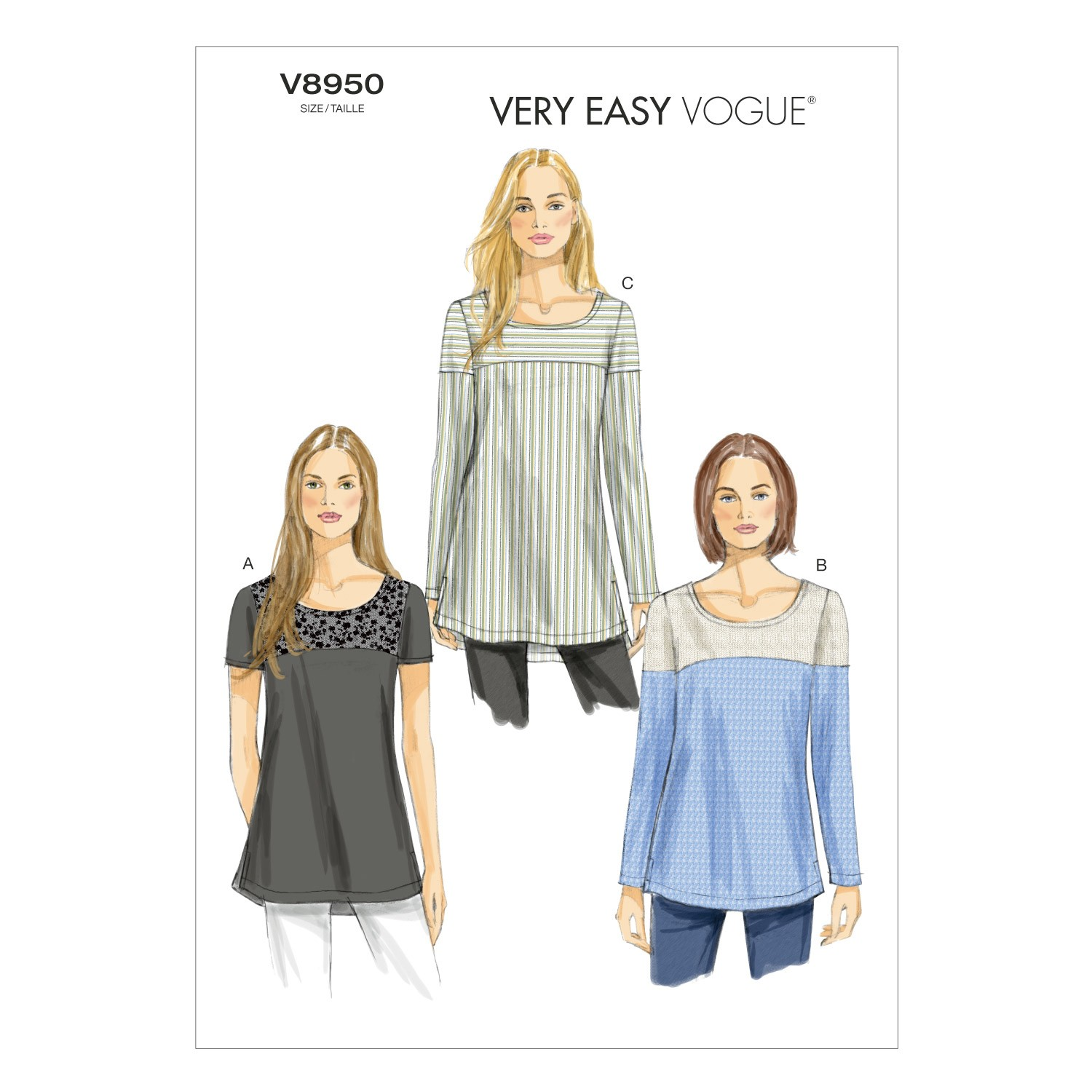 Vogue Sewing Pattern V8950 Women's Tunic