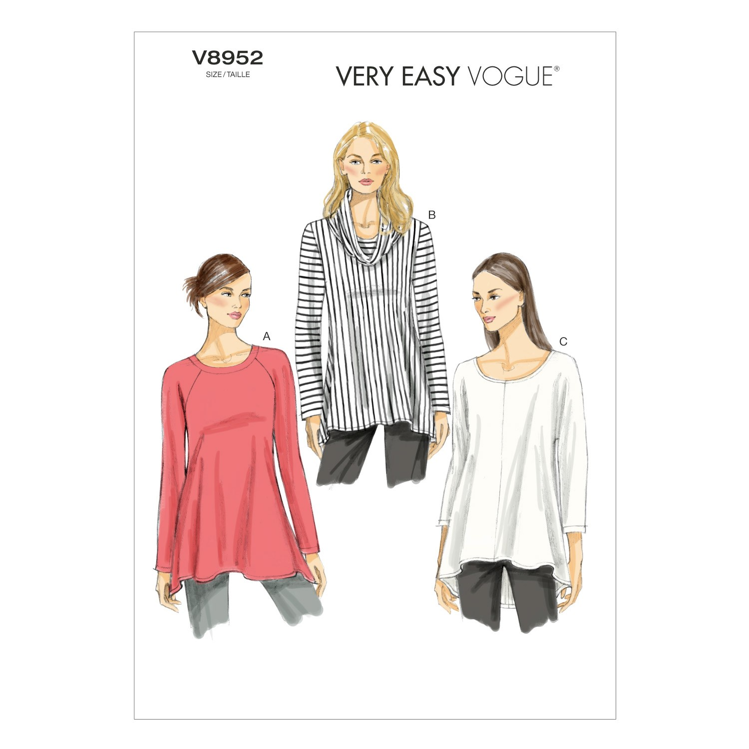 Vogue Sewing Pattern V8952 Women's Tunic Top