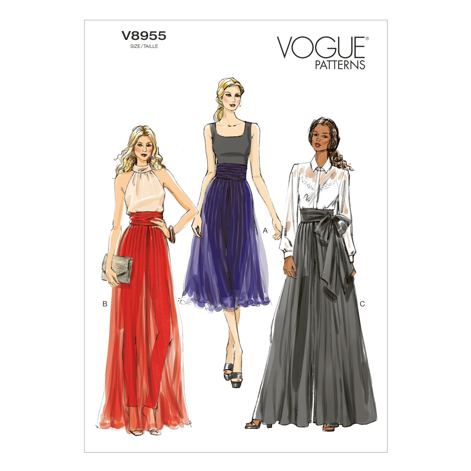 Vogue Sewing Pattern V8955 Women's Trousers