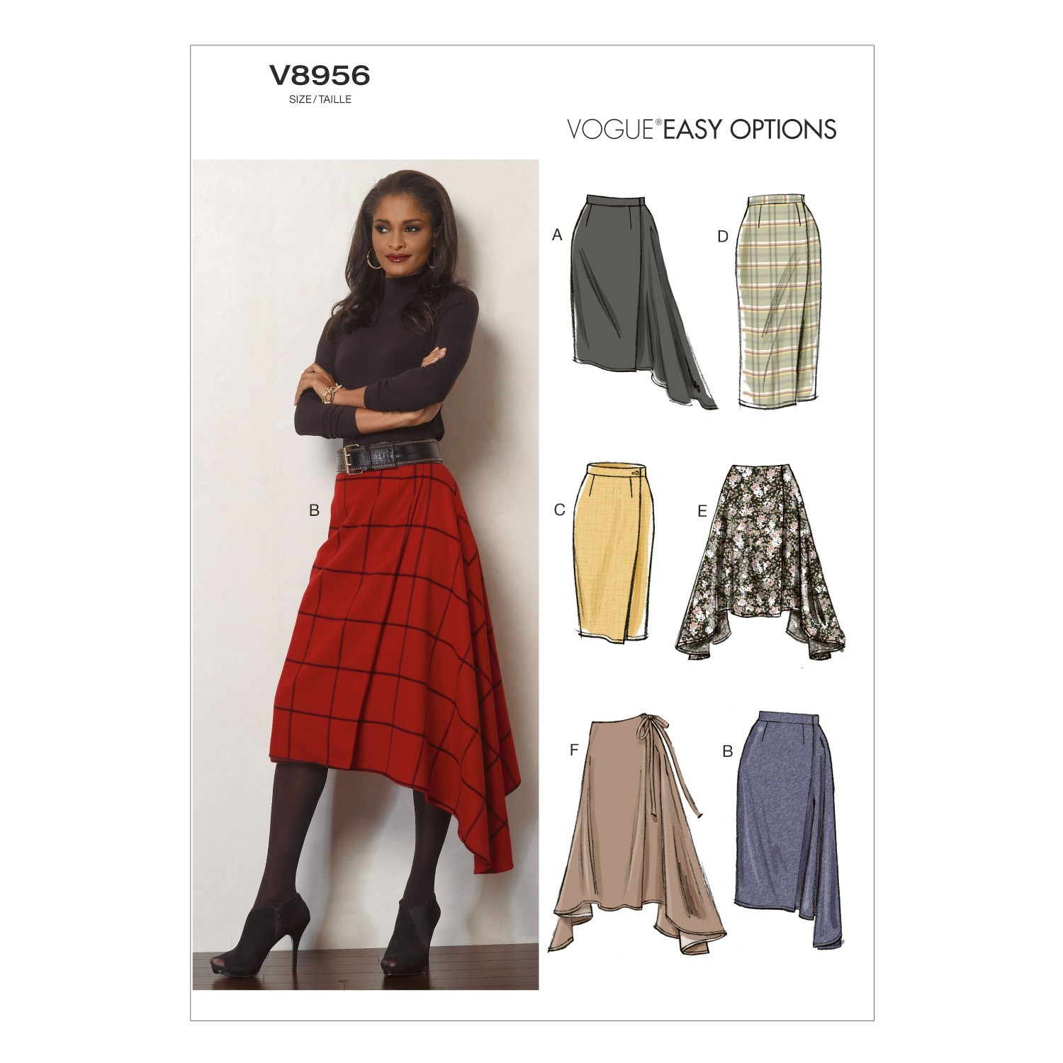 Vogue Sewing Pattern V8956 Women's Skirt In Various Styles