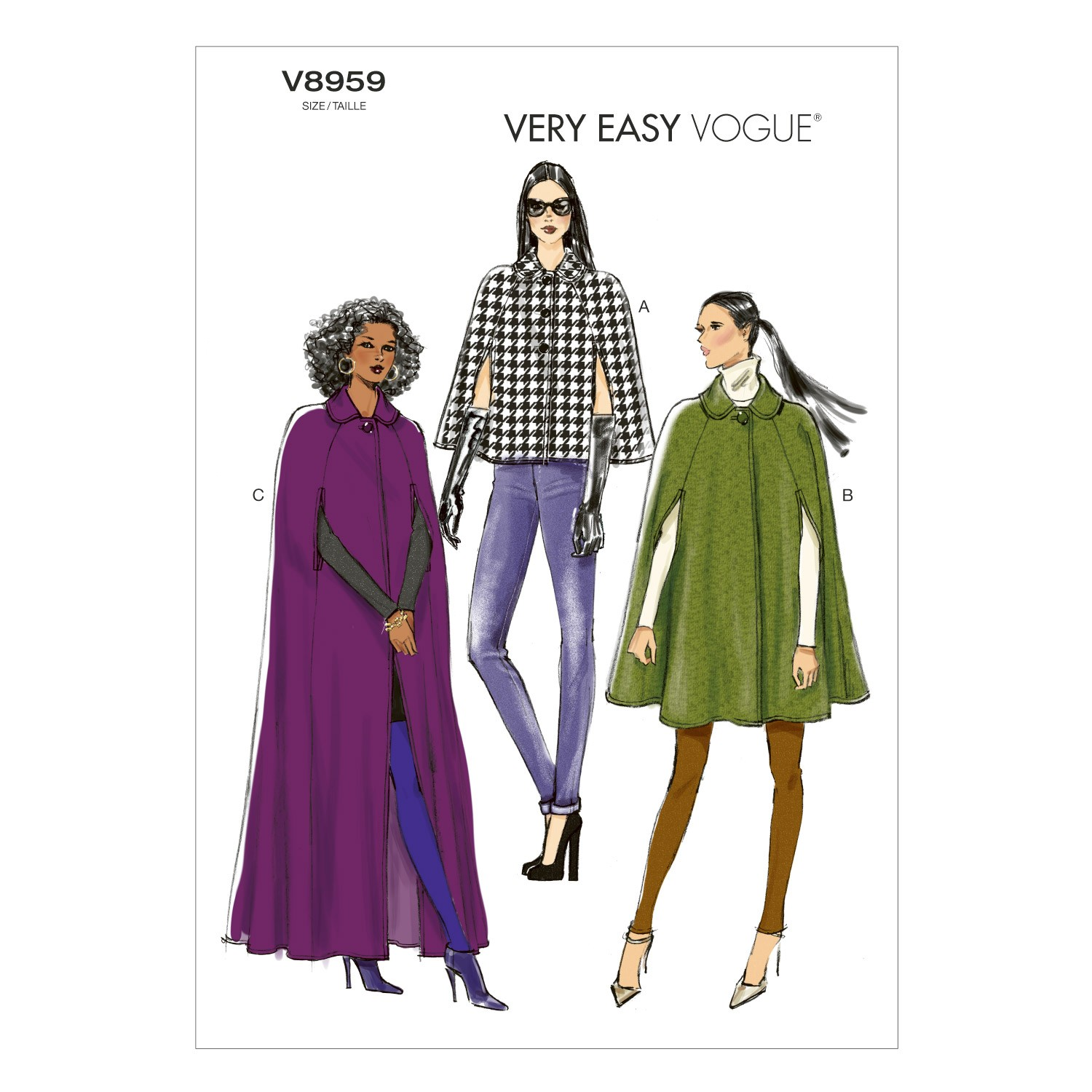 Vogue Sewing Pattern V8959 Women's Cape Coat