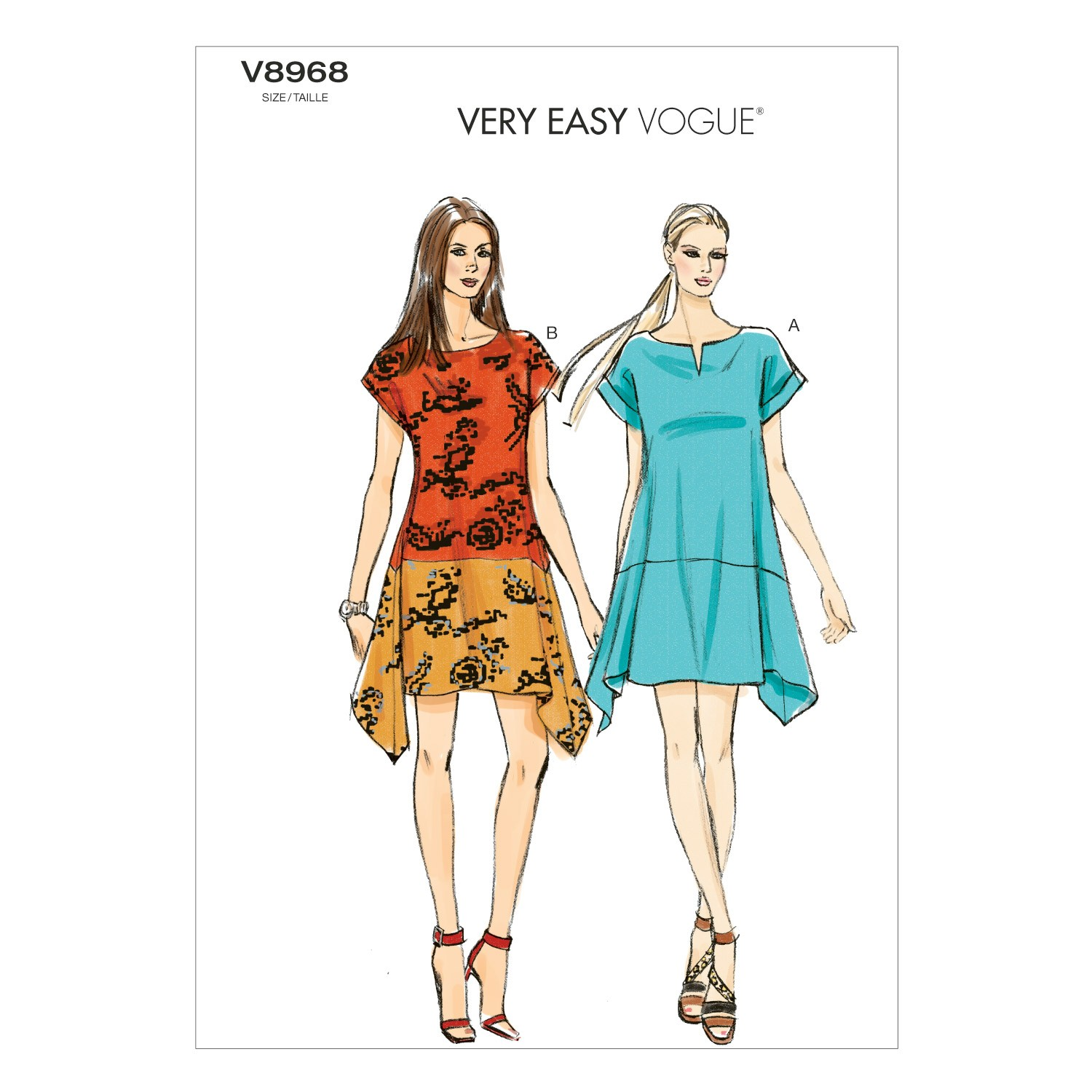 Vogue Sewing Pattern V8968 Women's Loose-Fitting Dress
