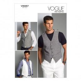 Vogue Sewing Pattern V8987 Men's Waistcoat Vest