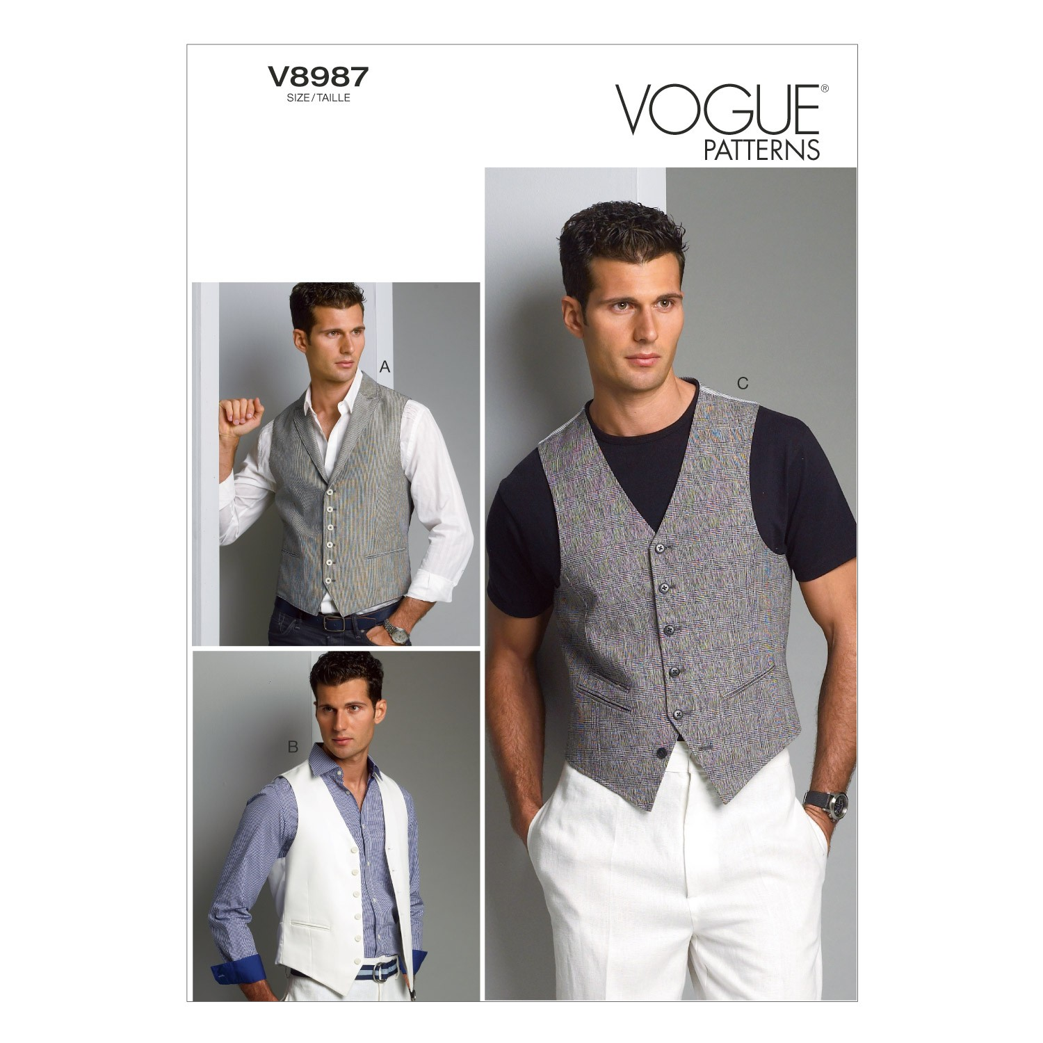 Vogue Sewing Pattern V8987 Men's Waistcoat Vest