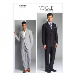 Vogue Sewing Pattern V8988 Men's Suit Jacket And Trousers
