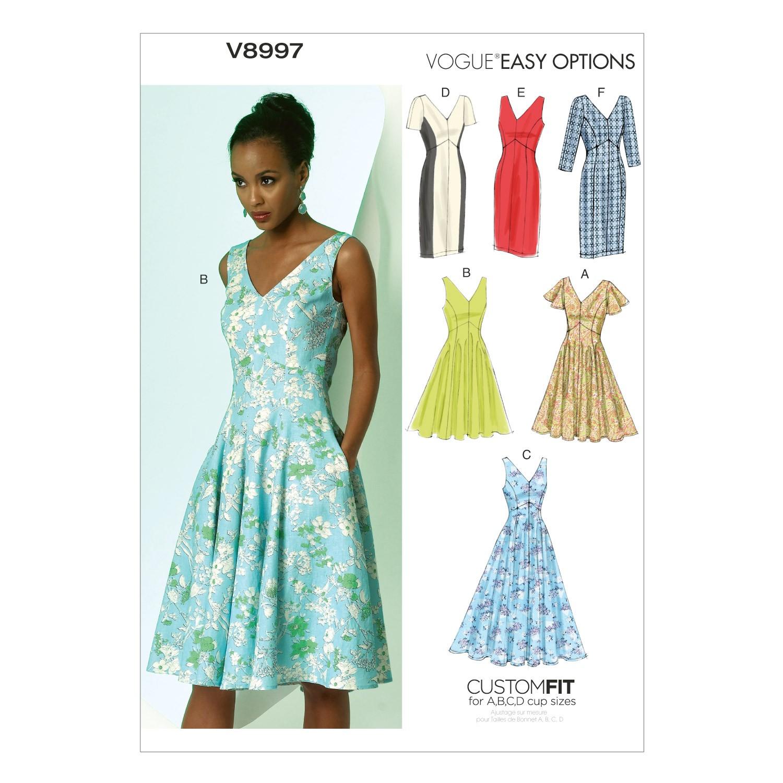 Vogue Sewing Pattern V8997 Misses' Dress