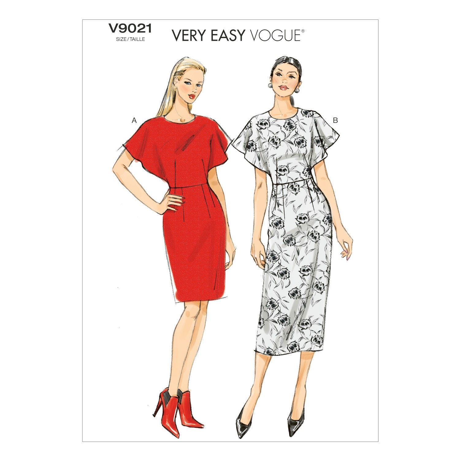 Vogue Sewing Pattern V9021 Women's Fitted Dress