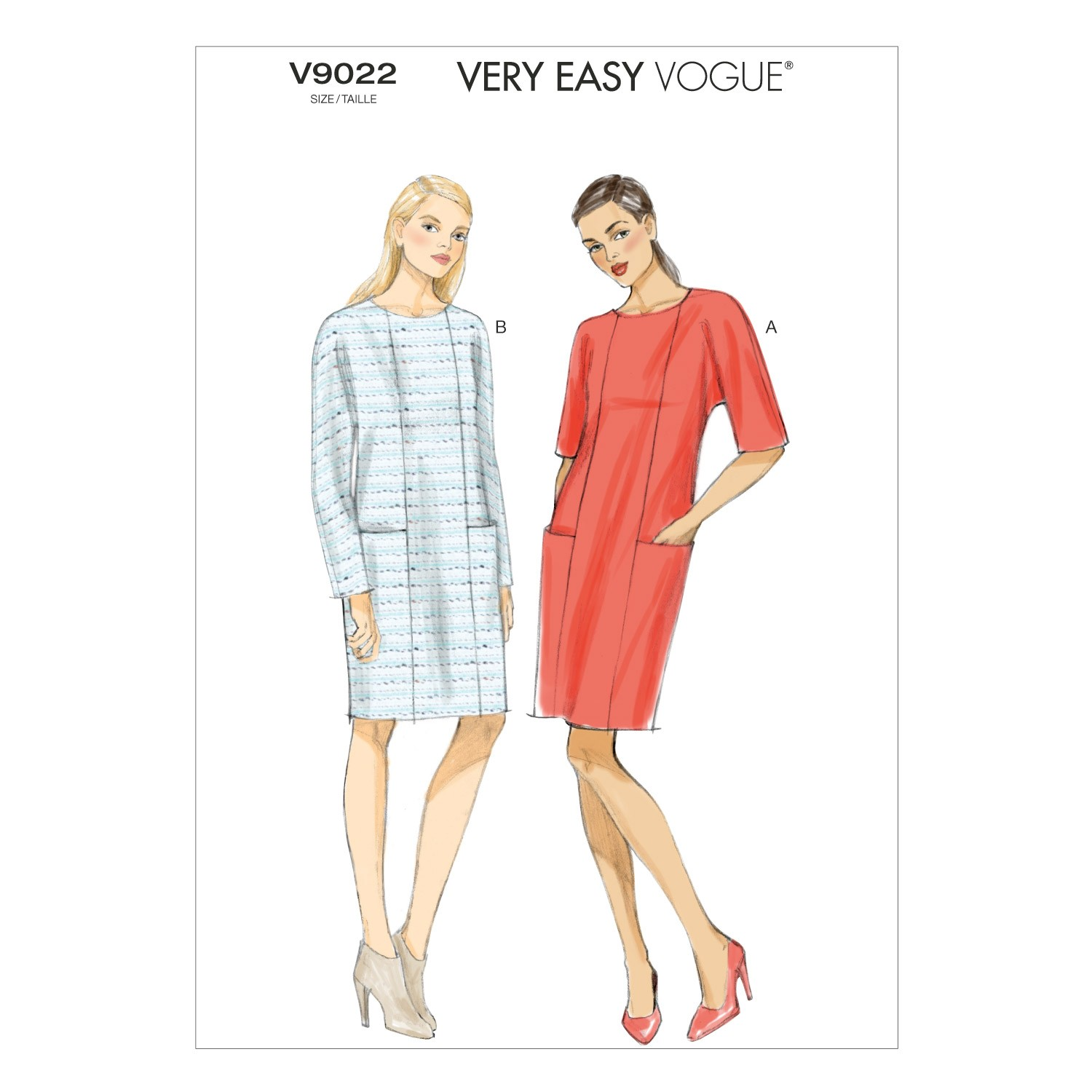 Vogue Sewing Pattern V9022 Women's Shift Dress