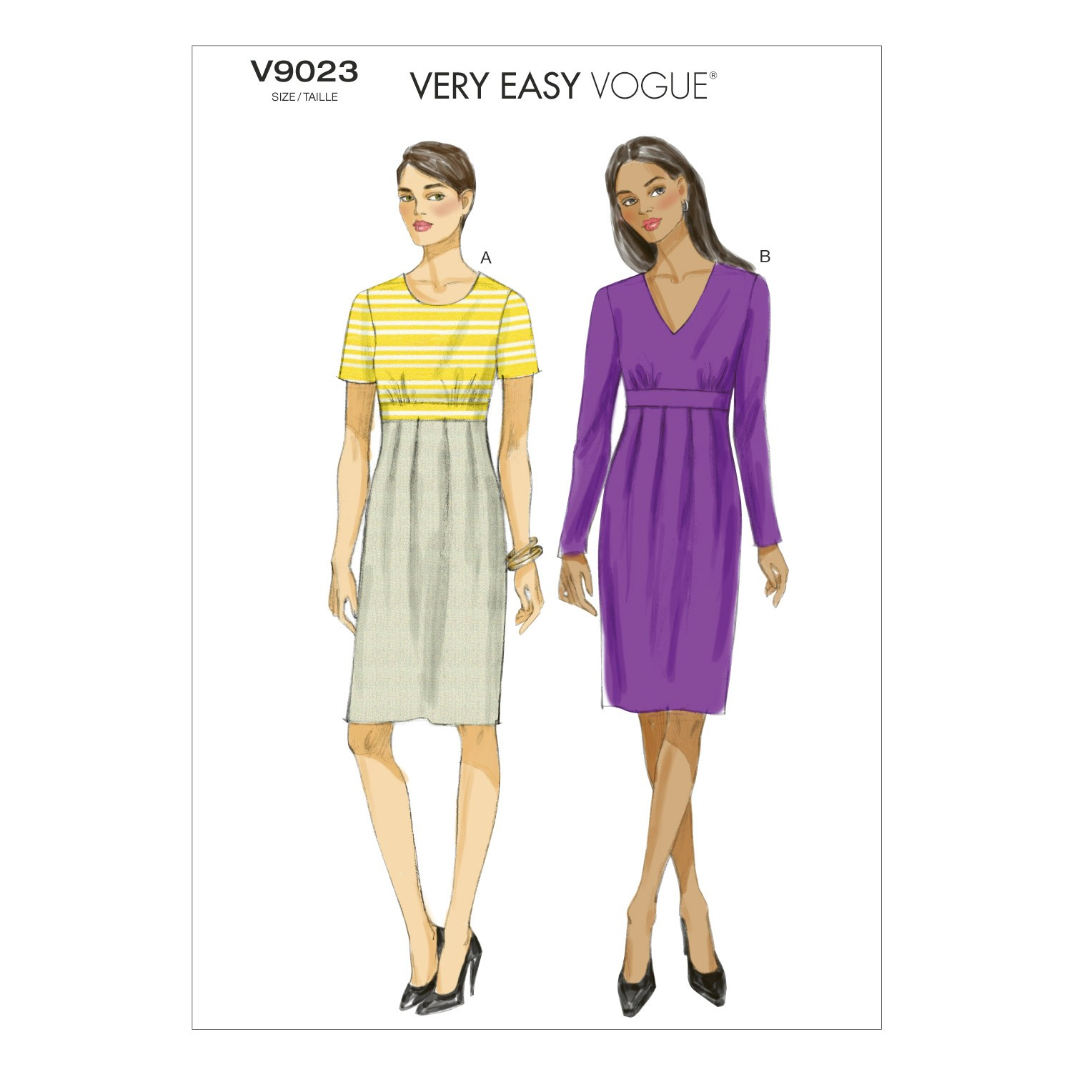 Vogue Sewing Pattern V9023 Women's Pullover Dress