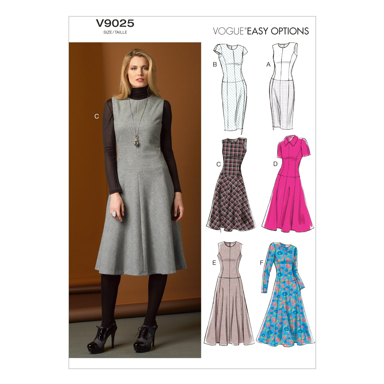 Vogue Sewing Pattern V9025 Women's Petite Dress In Various Styles