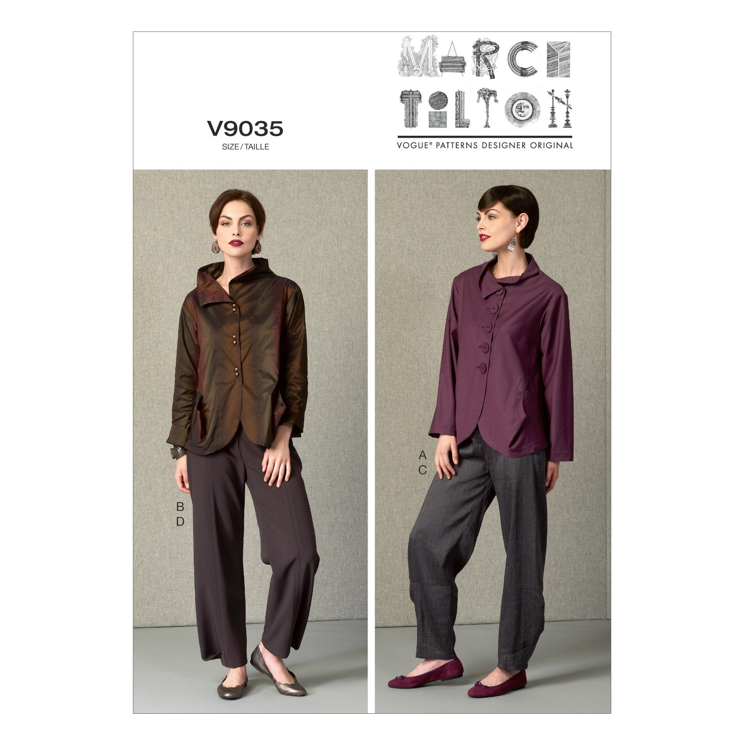 Vogue Sewing Pattern V9035 Women's Jacket And Trousers