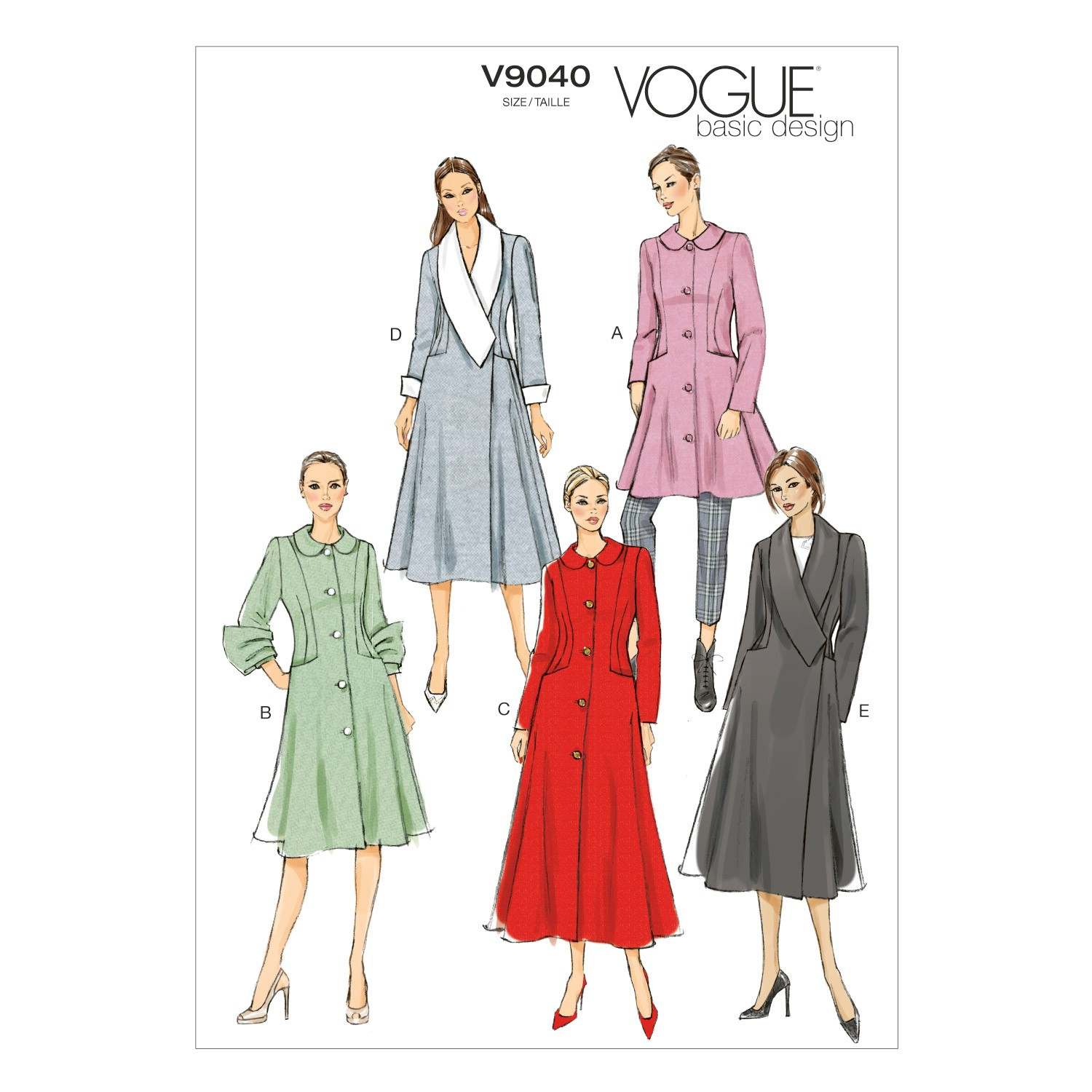 Vogue Sewing Pattern V9040 Women's Coat In Various Styles