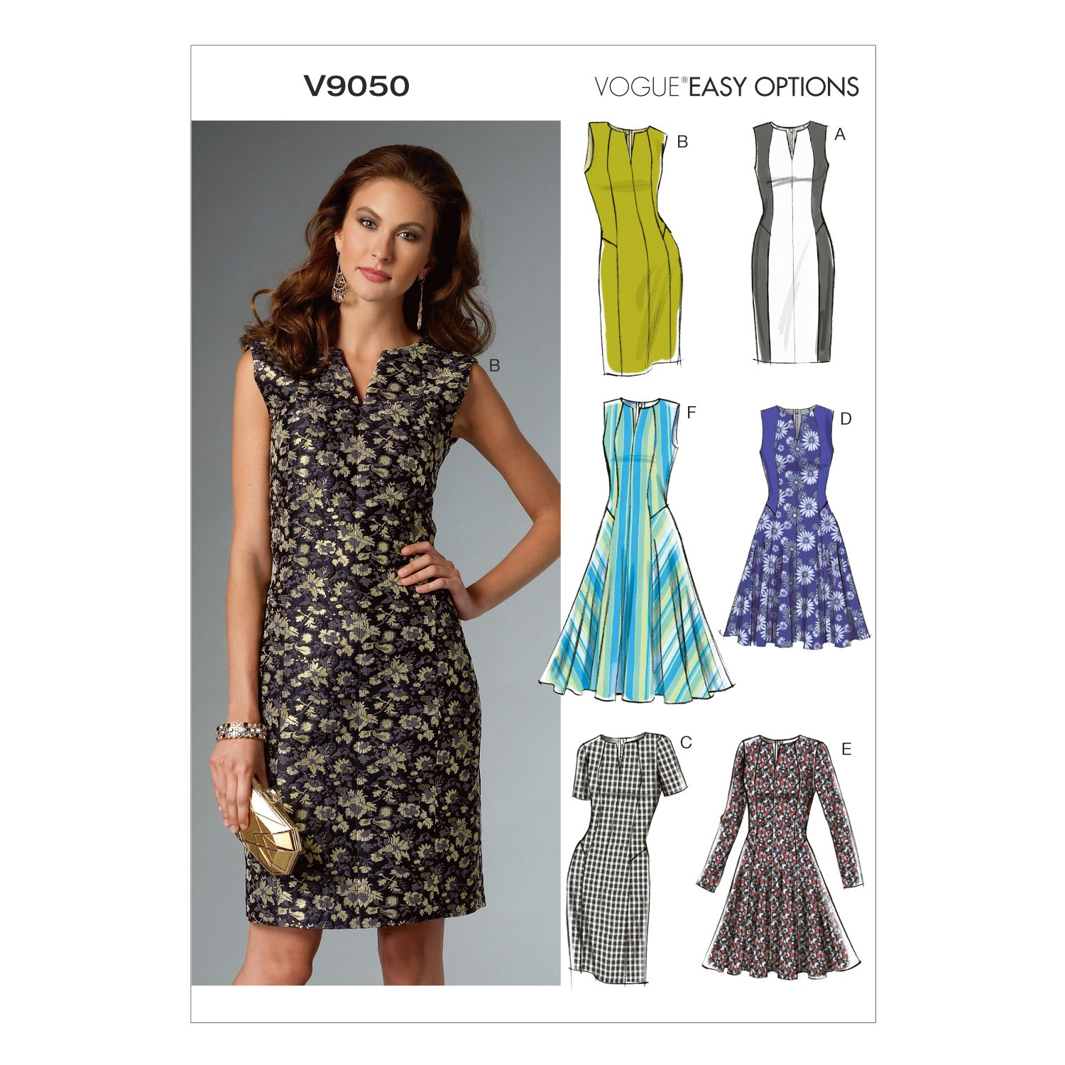 Vogue Sewing Pattern V9050 Women's Lined Close Fitting Petite Dress