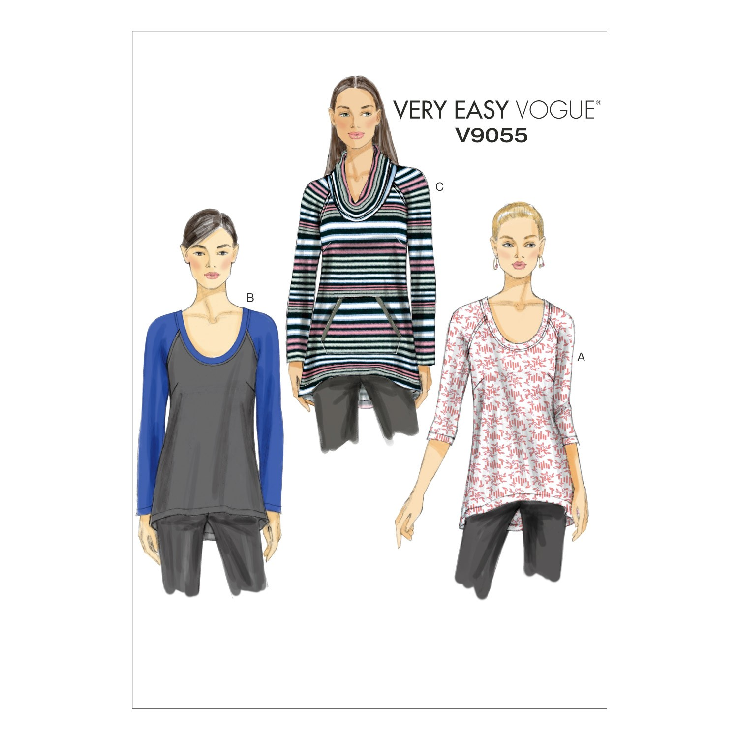 Vogue Sewing Pattern V9055 Women's Pull-Over Top