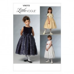 Vogue Sewing Pattern V9072 Children's Little Girls Special Occasion Dress