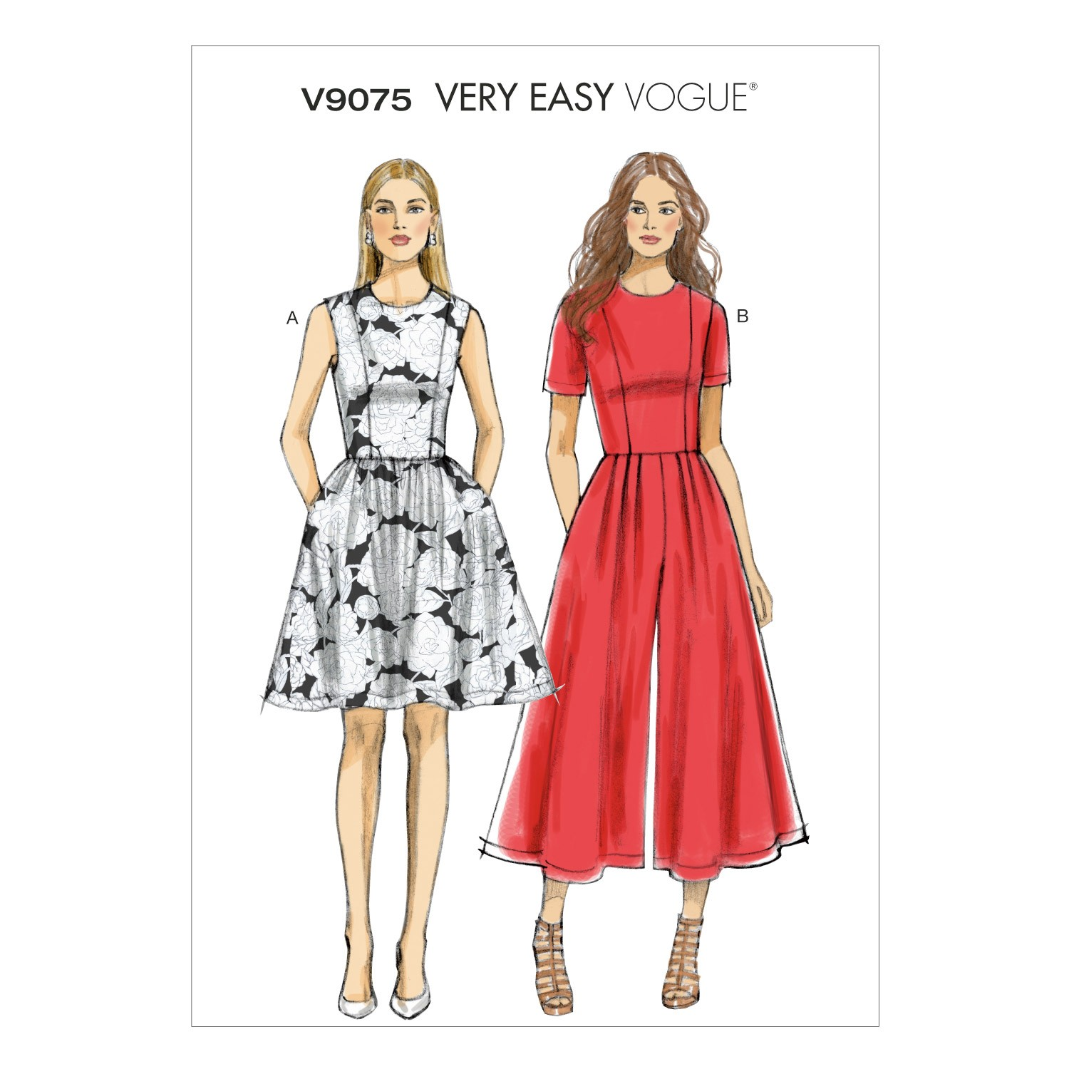 Vogue Sewing Pattern V9075 Women's Petite Dress And Jumpsuit