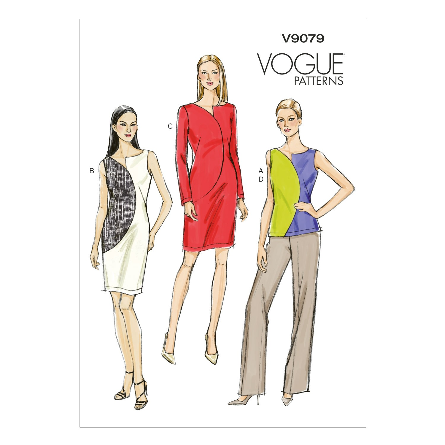 Vogue Sewing Pattern V9079 Women's Top Dresses And Trousers