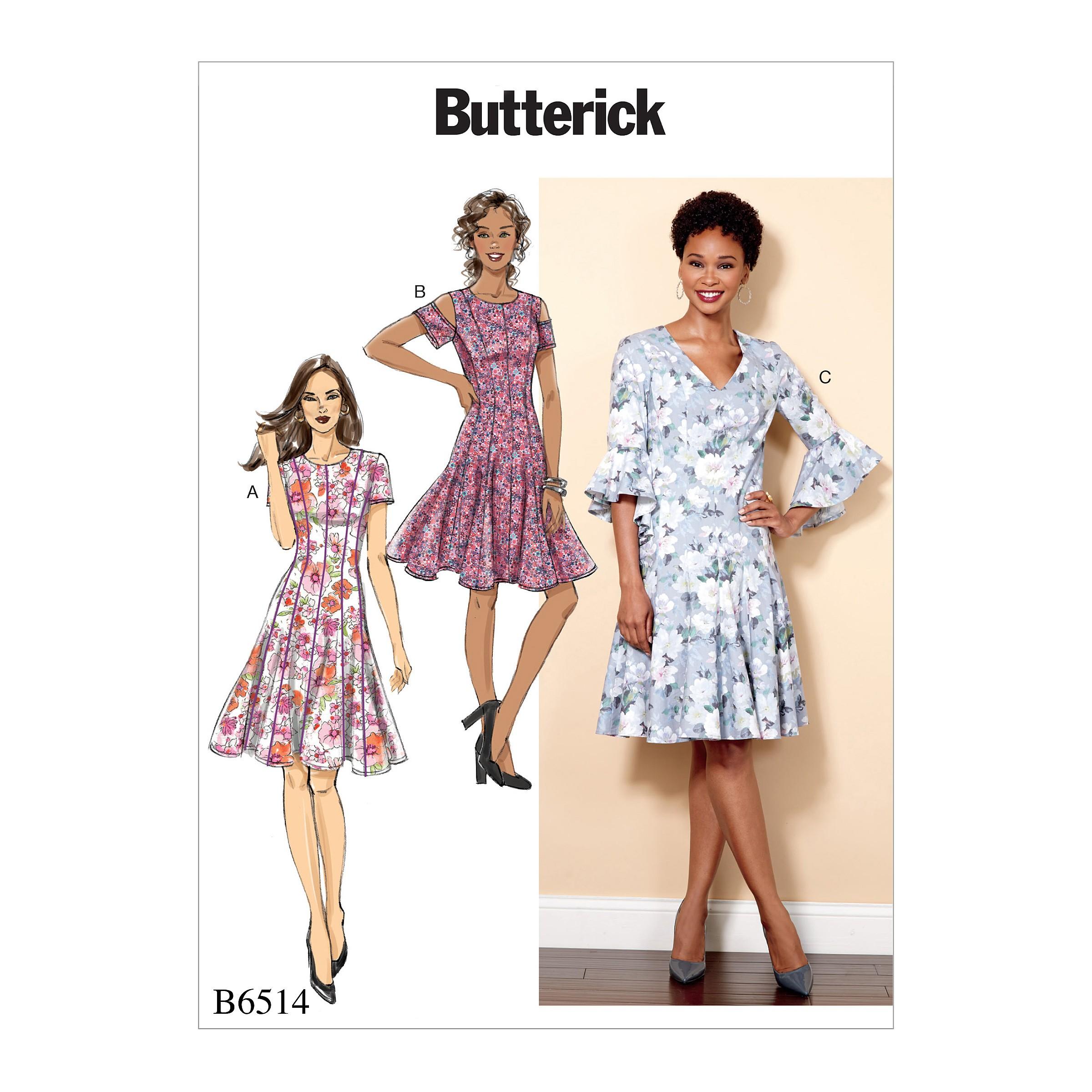 Butterick Sewing Pattern 6514 Misses' Miss Petite Paneled Dress