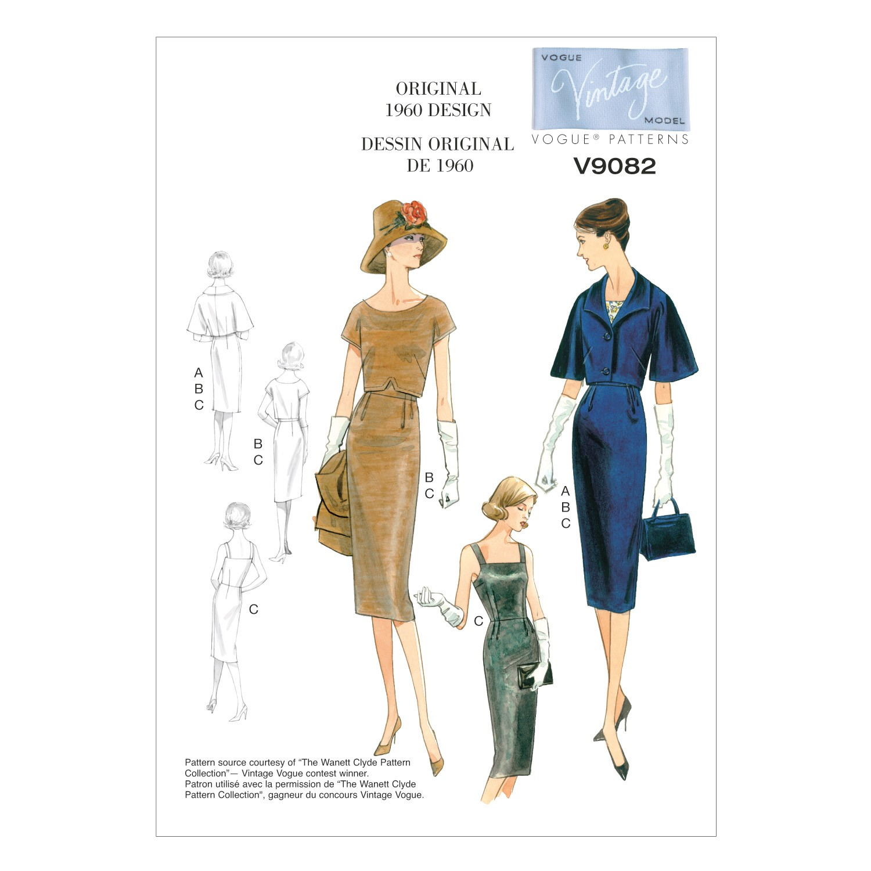 Vogue Sewing Pattern V9082 Women's Vintage Jacket Top And Dress