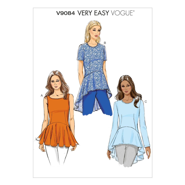 Vogue Sewing Pattern V9084 Women's Peplum Top