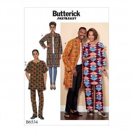 Butterick Sewing Pattern 5572 Family Pyjama Set Top Shorts /& Trousers
