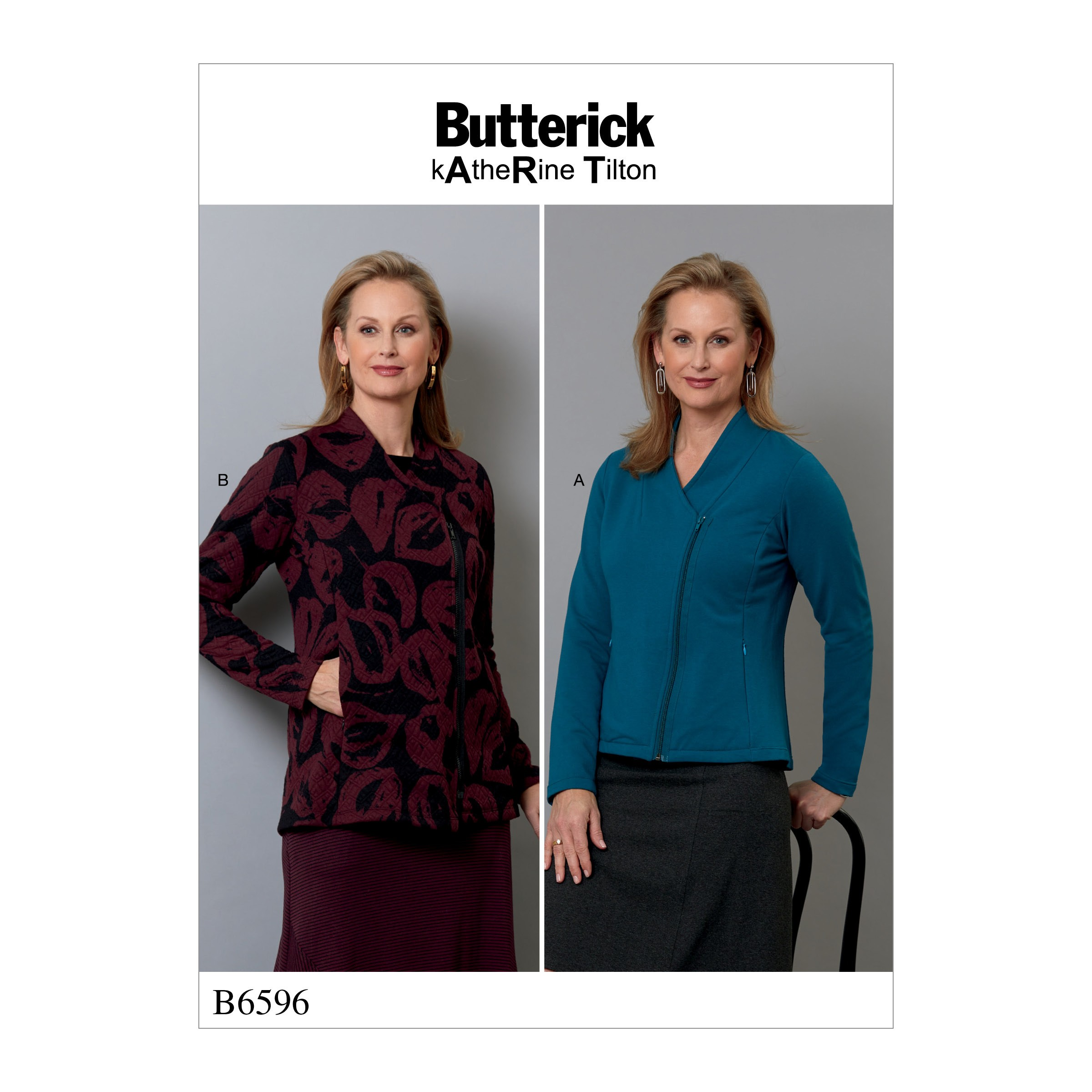 Butterick Sewing Pattern 6596 Misses' Fitted Jackets with Side Zip