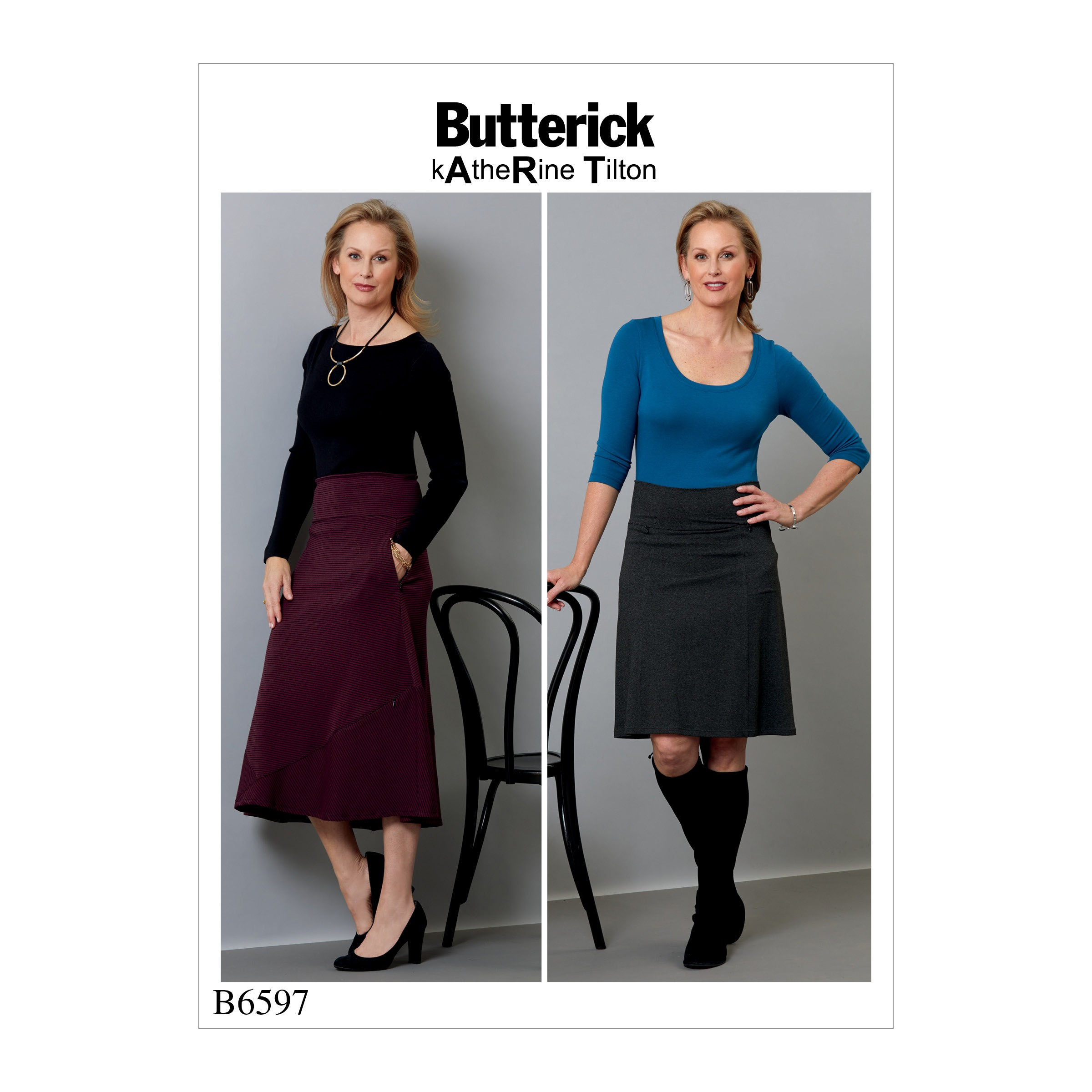 Butterick Sewing Pattern 6597 Misses' Skirts with Feature Seam Details