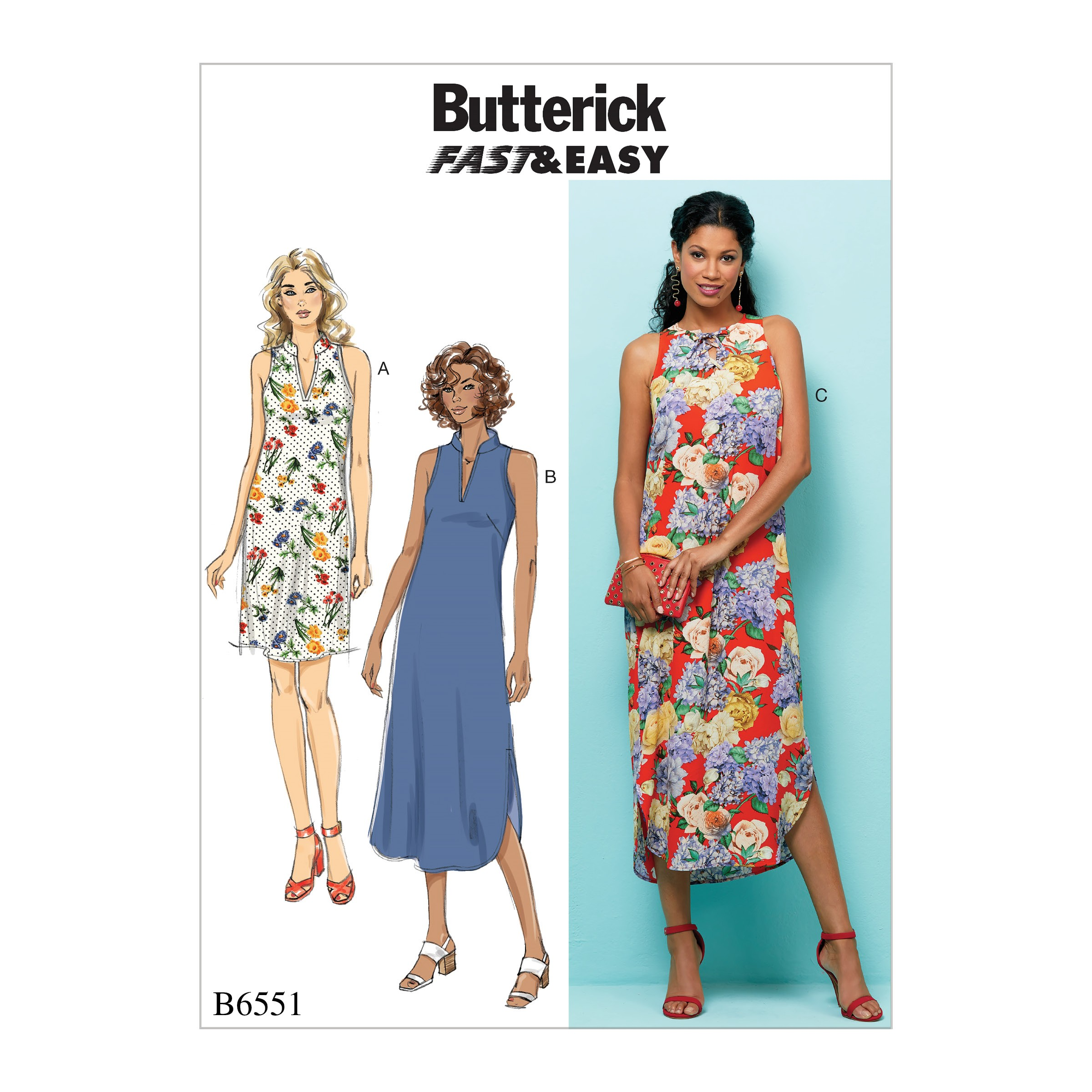 Butterick Sewing Pattern 6551 Misses' Dress