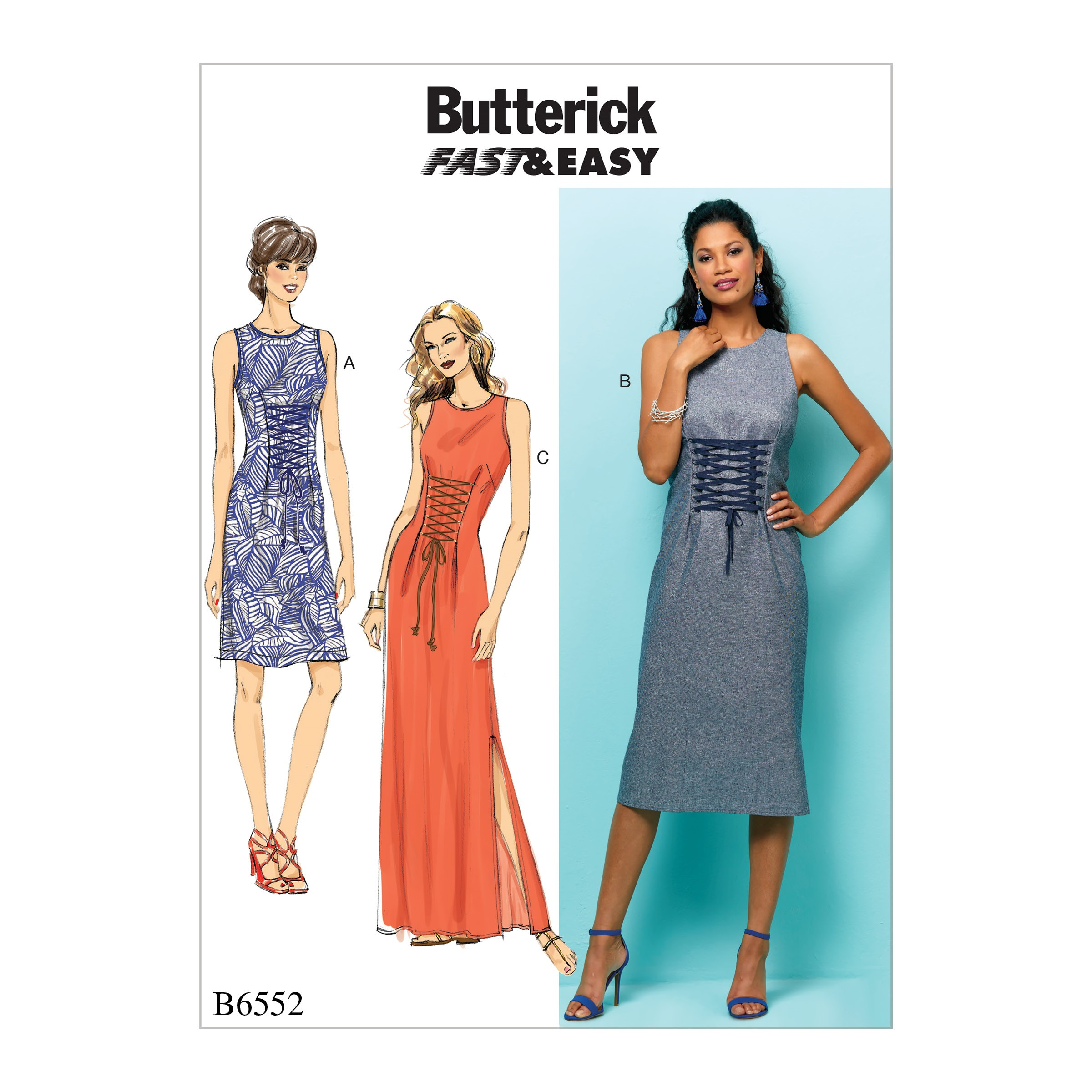 Butterick Sewing Pattern 6552 Misses' Dress
