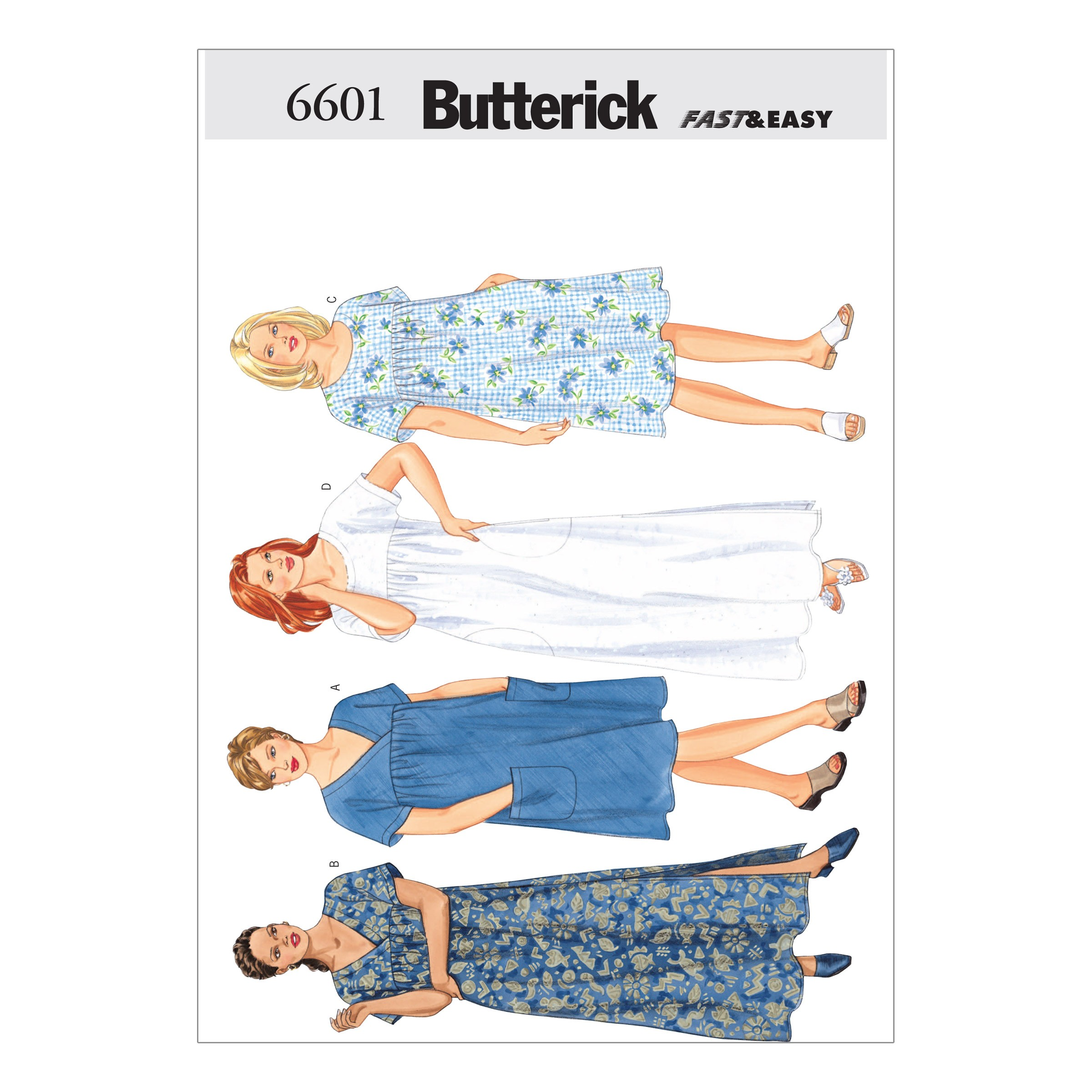 Butterick Sewing Pattern 6601 Misses' Casual Loungewear Separates Mix and Match