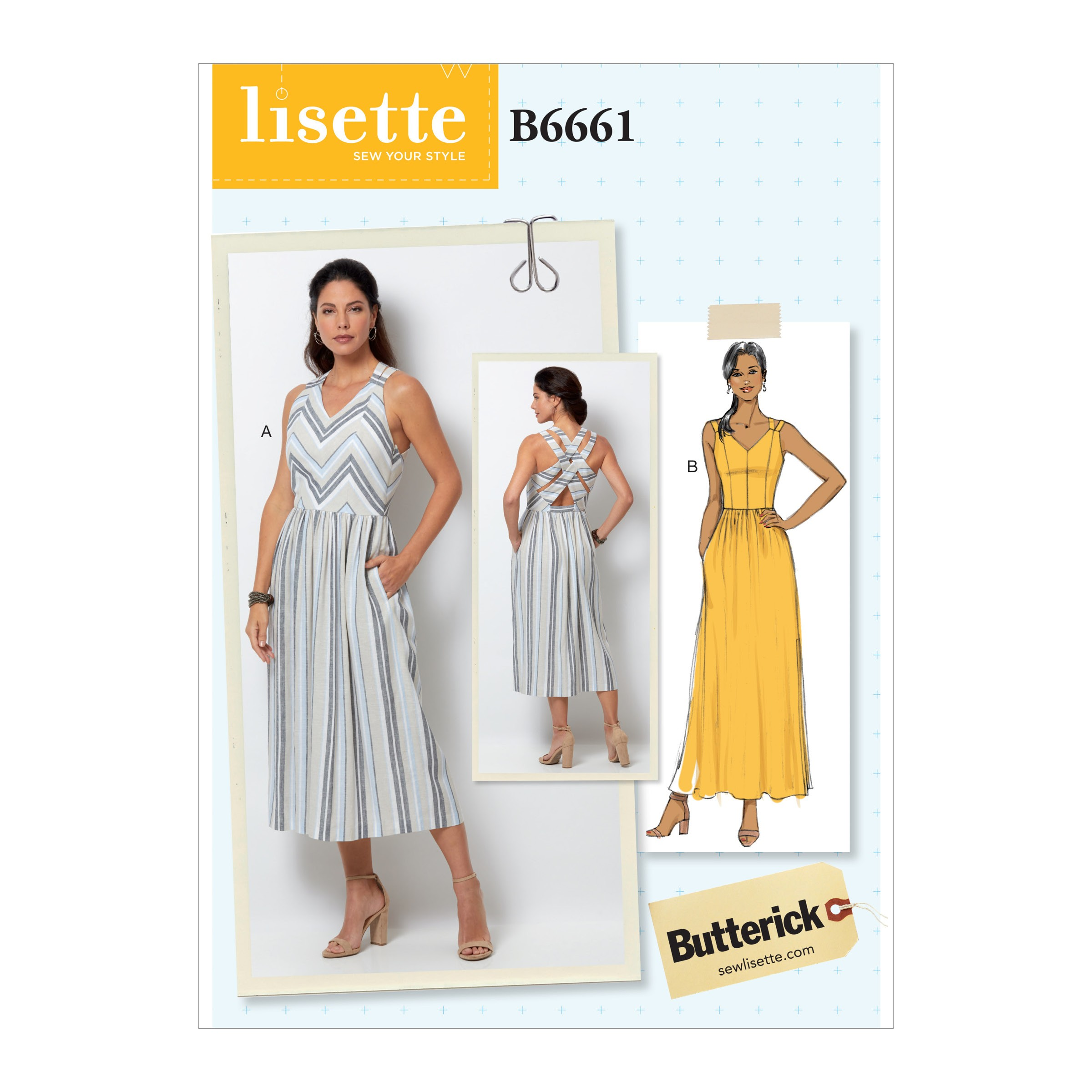 Butterick Sewing Pattern 6661 Misses' Close-Fitting Dress