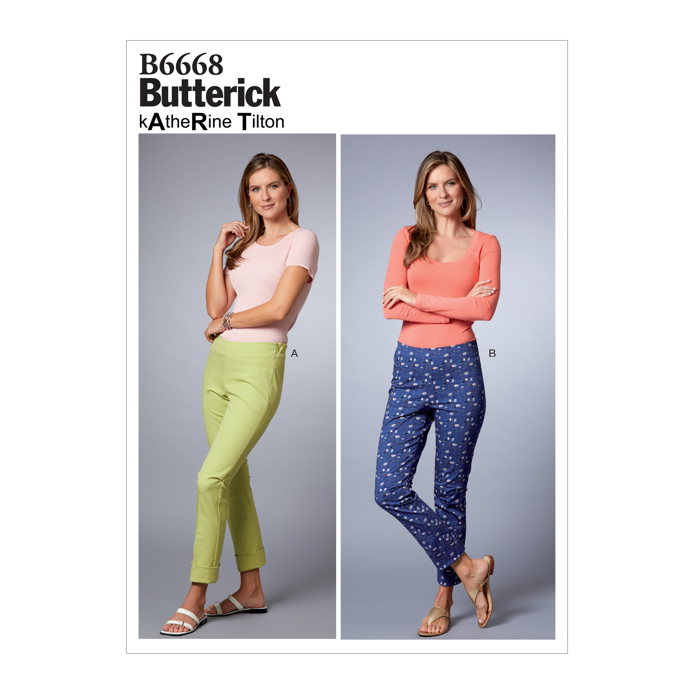 Butterick Sewing Pattern 6668 Misses' High Wasted Trousers