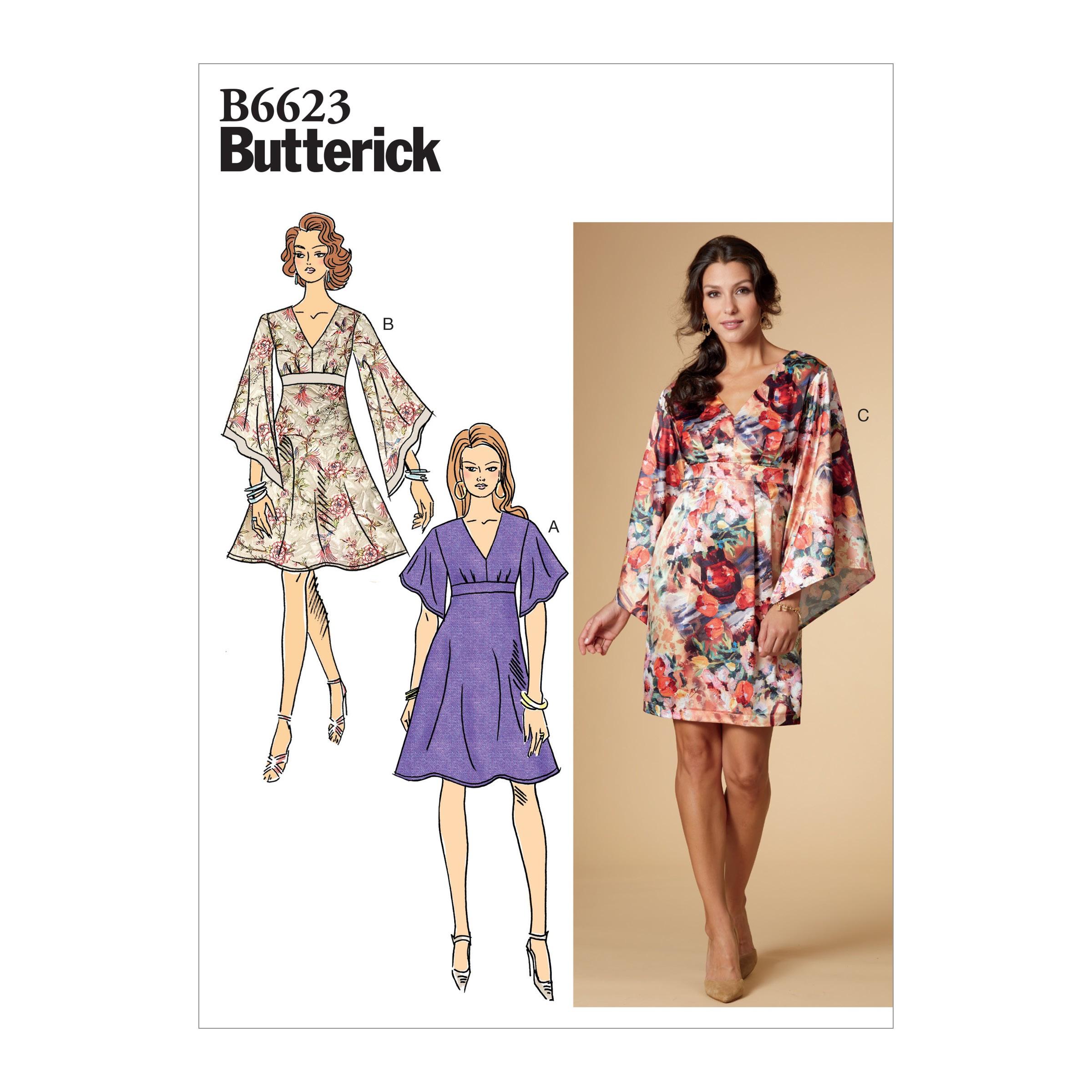 Butterick Sewing Pattern 6623 Women's Loose Sleeve Dress
