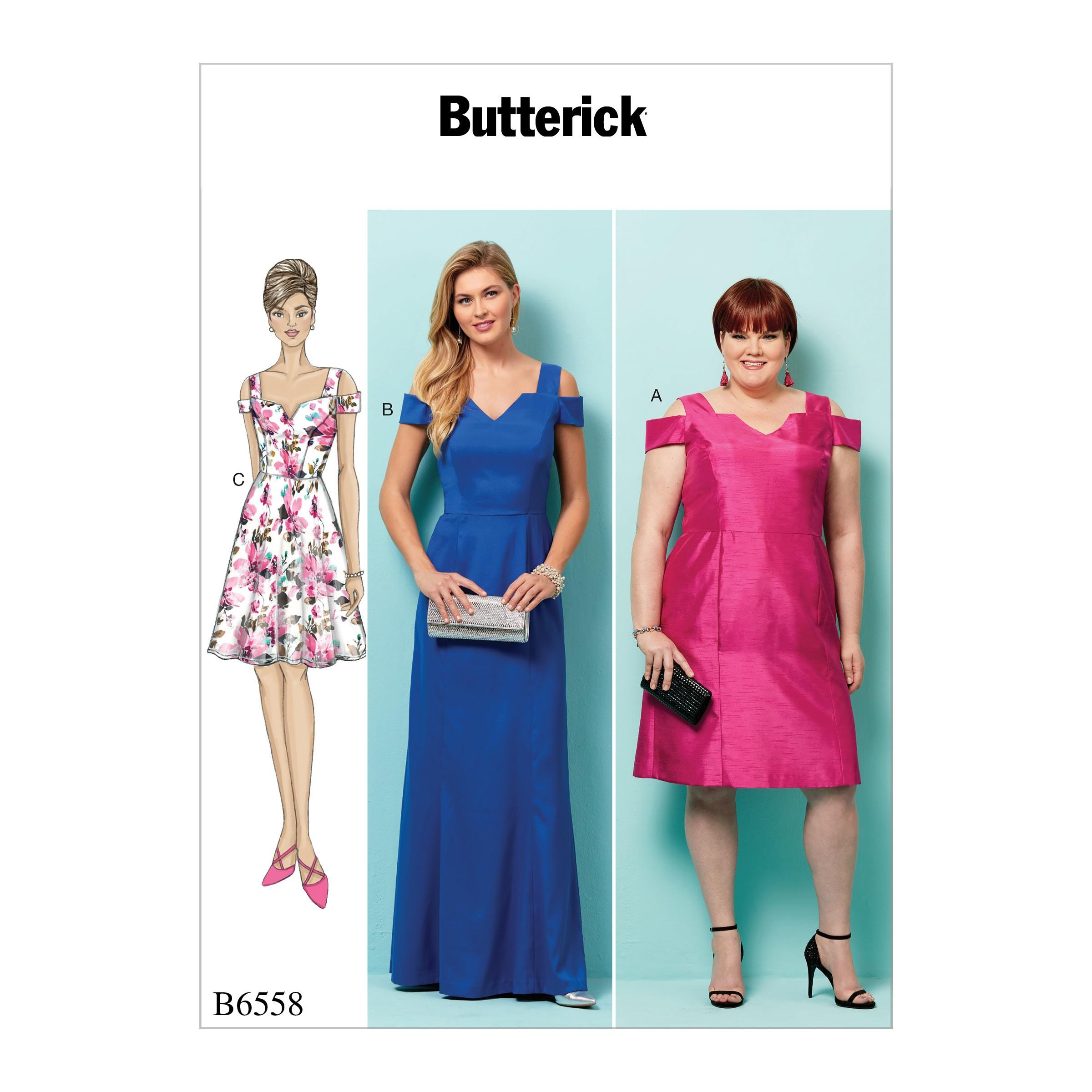 Butterick Sewing Pattern 6558 Misses' Women's Lined Bodice Dress