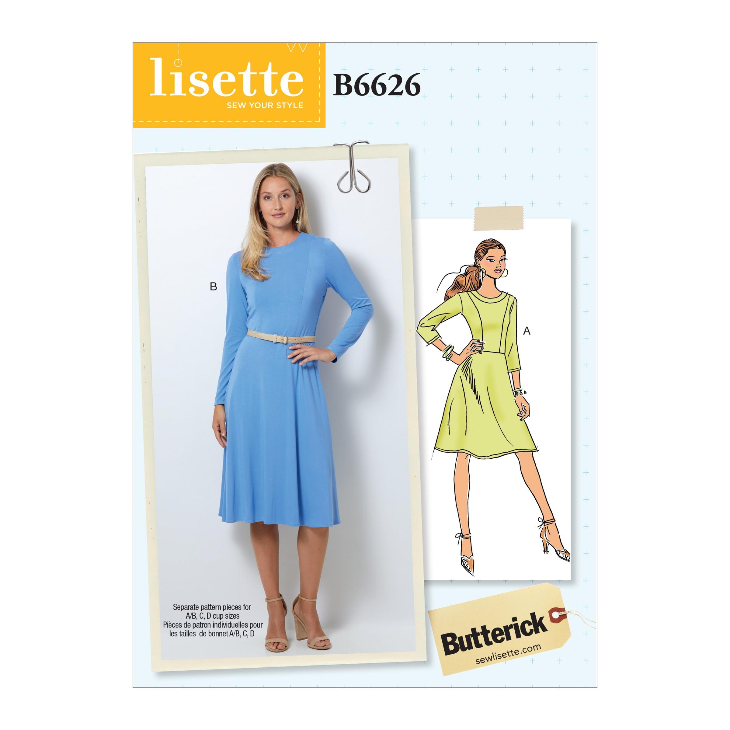 Butterick Sewing Pattern 6626 Women's Petite Dress