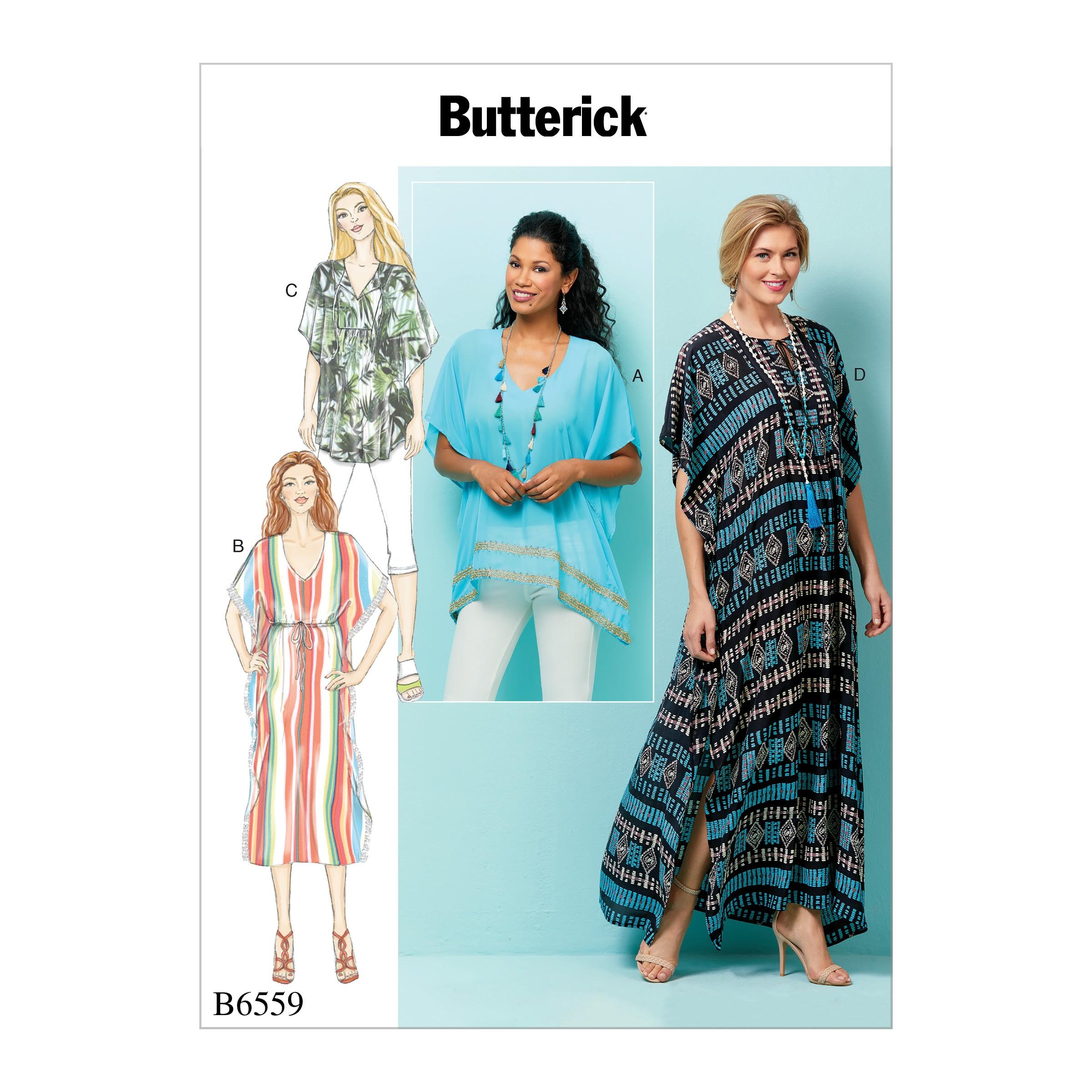 Butterick Sewing Pattern 6559 Women's Loose Fitting Tunic and Dress