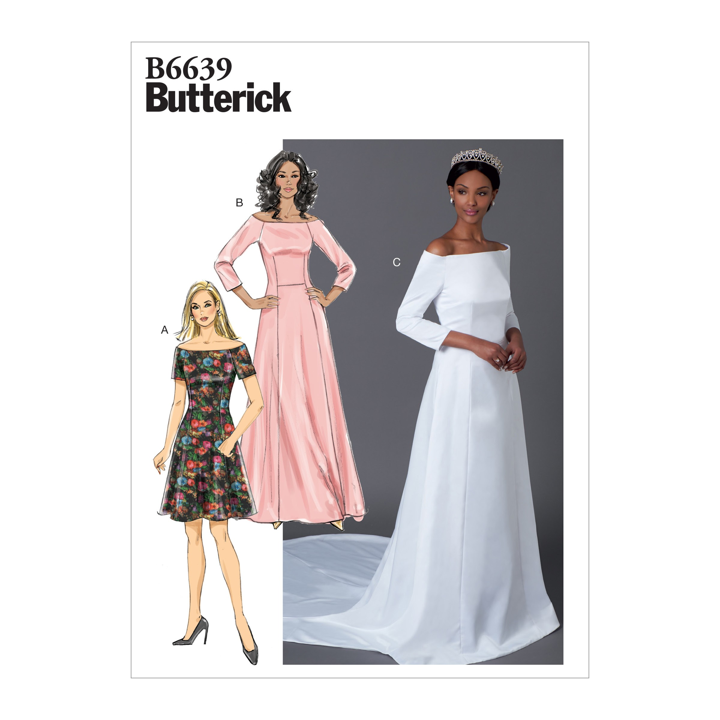 Butterick Sewing Pattern 6639 Women's Special Occasion Dresses