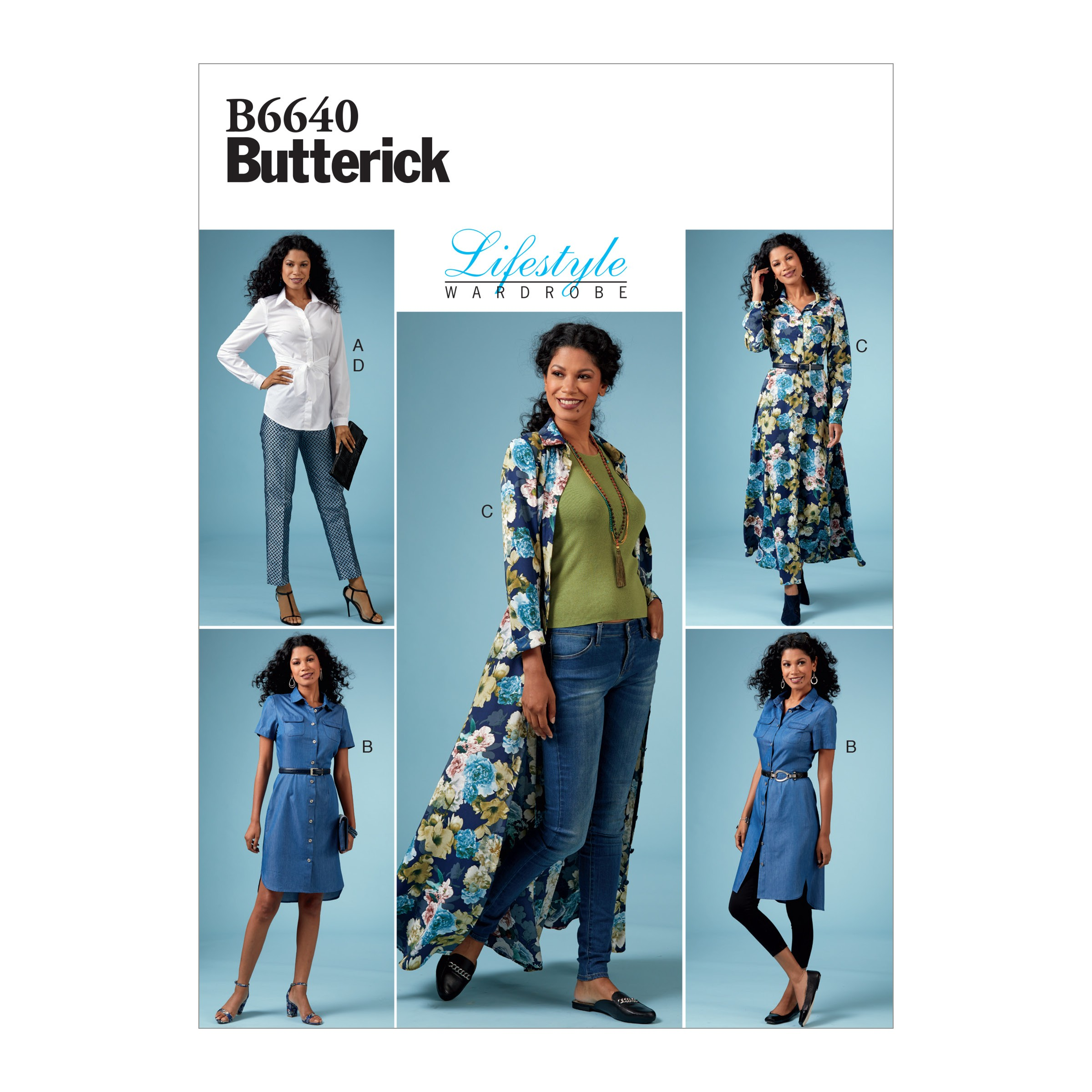 Butterick Sewing Pattern 6640 Women's Petite Top Dress And Trousers