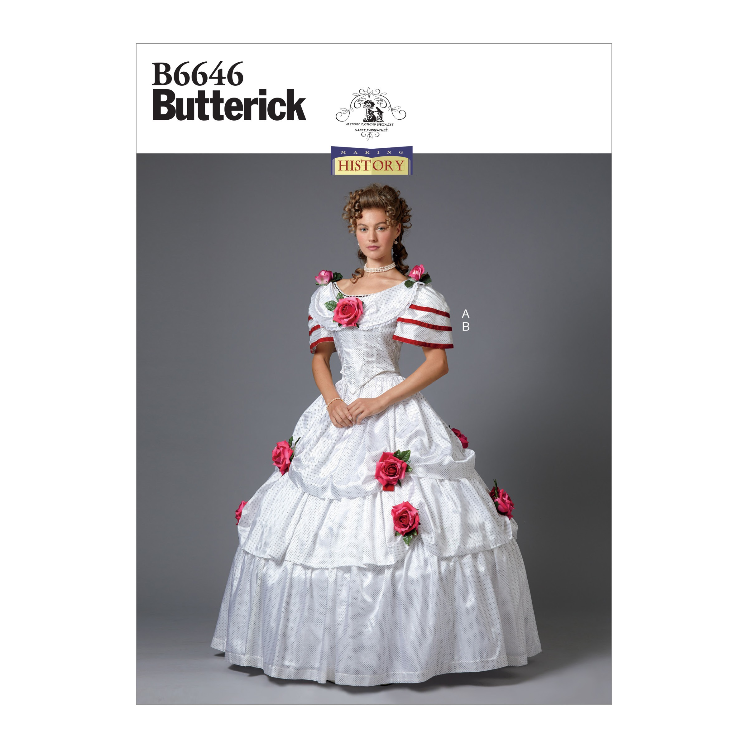 Butterick Sewing Pattern 6646 Women's Vintage Special Occasion Dress Historical