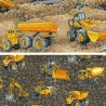 100% Cotton Patchwork Fabric Nutex Construction Trucks & Diggers Eartmovers