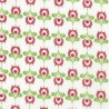 100% Cotton Patchwork Fabric Nutex Sweet Fields Floral Shapes
