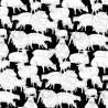 100% Cotton Patchwork Fabric Nutex Sheepish Sheep Farm Lambs