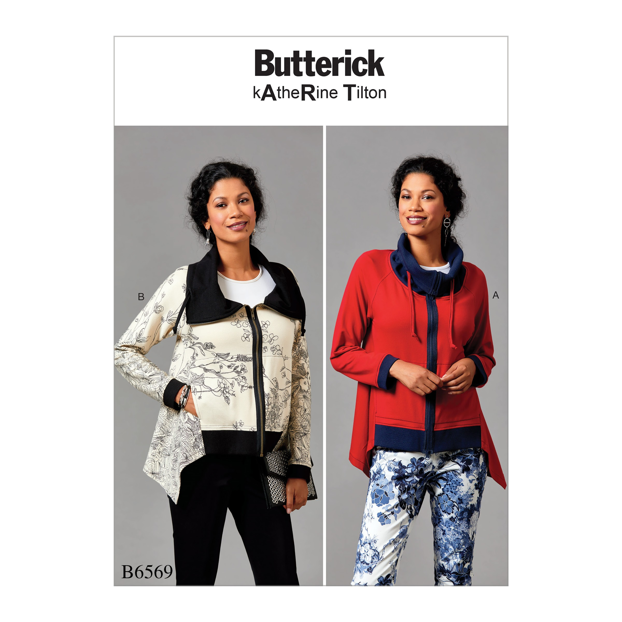 Butterick Sewing Pattern 6569 Misses' Loose Fitting Jacket With Drawstrings