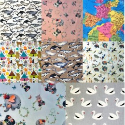 100% Cotton Digital Print Assorted Collection Globe Animals Fabric 140cm Wide