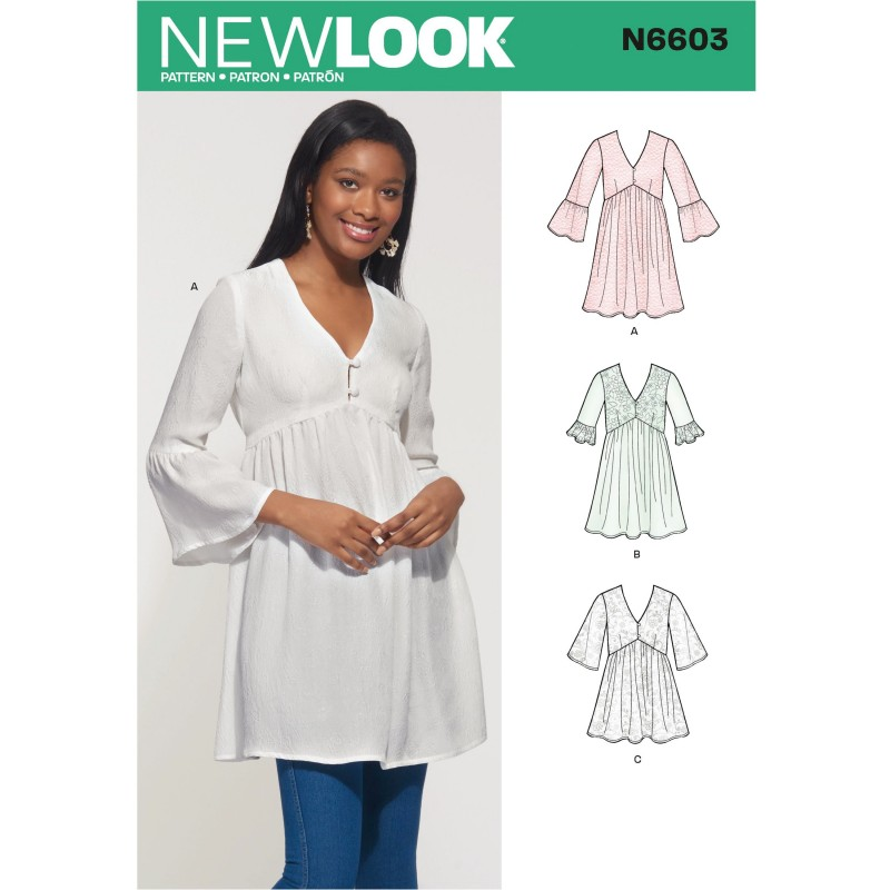 New Look Women's Mini Dress and Tunic with Button Closure and a Fitted Top 6603