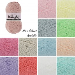 King Cole Baby Glitz DK Double Knit Yarn Pastel Colours 100g Wool