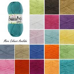 King Cole Bamboo Cotton DK Double Knit Yarn Wool 100g