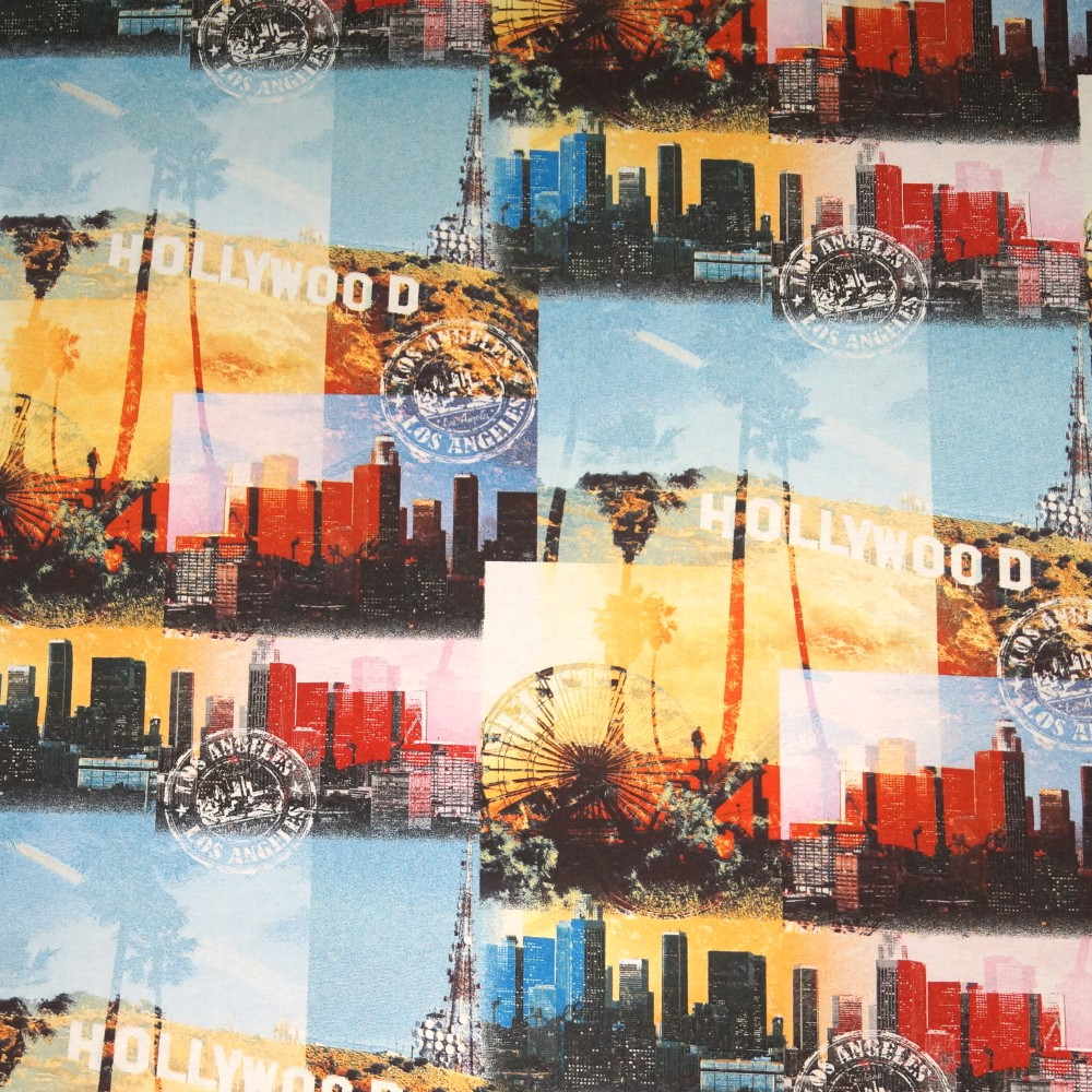 Los Angeles Hollywood Hills Sight Seeing Cotton Linen Fabric