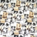 Sale Cotton Rich Linen Look Fabric Curtain Upholstery Cushion Hollywood Icons
